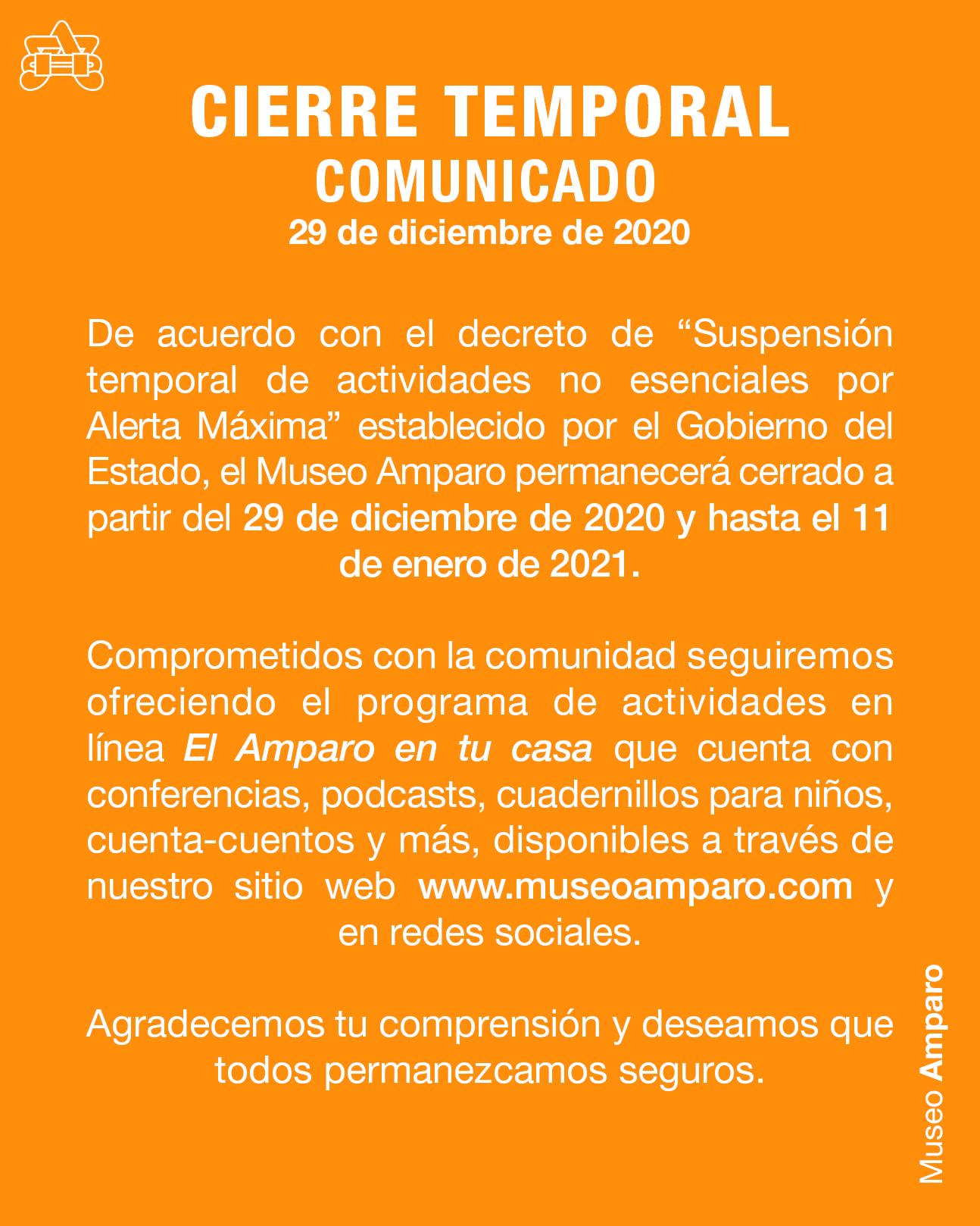 Lineamientos de Visita   Museo Amparo, Puebla.